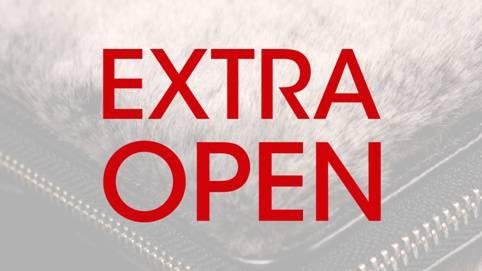 Extra openingstijden