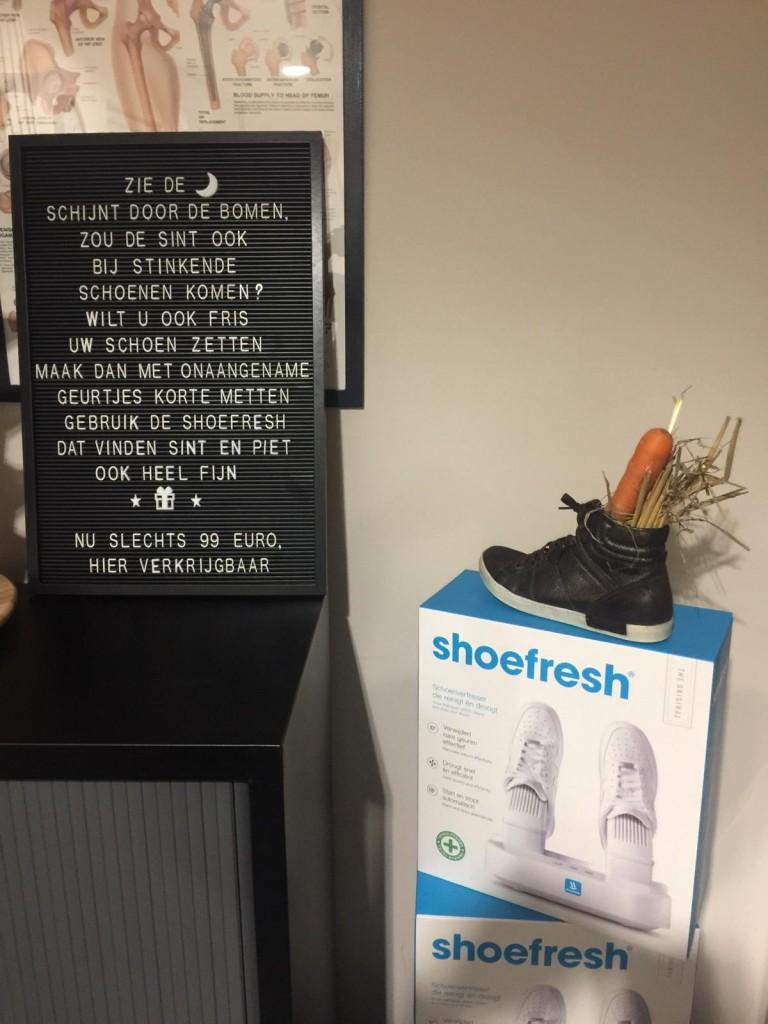 Zijn uw schoenen fris?